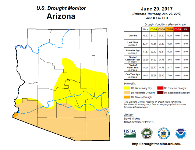AZ drought image June 2017