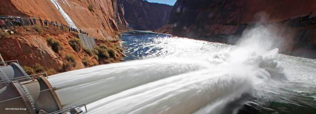 Glen Canyon Dam high flow release photo