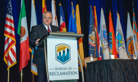 secretary-bernhardt-at-lectern-with-reclamation-logo-usbr-photo